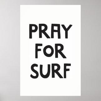 Poster Priez pour le surf