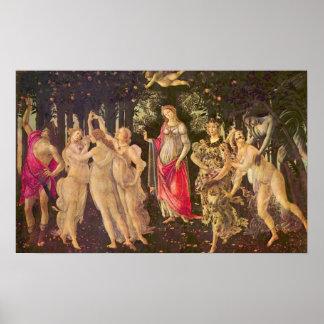 Poster Primavera par Botticelli, art de Renaissance