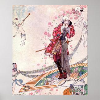 Poster Prince Souci sur la fan par Kay Nielsen