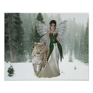 Poster Princes et affiche féeriques de forêt de scène