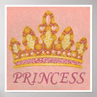 Poster Princesse ornée de bijoux Crown par Chariklia