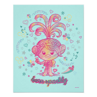 Poster Princesse Poppy 2 des trolls |