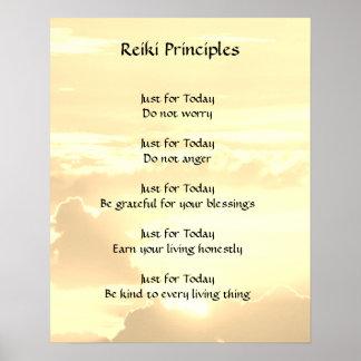 Poster Principes de Reiki