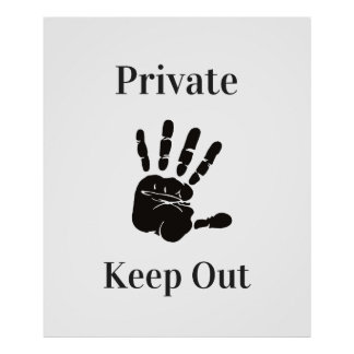 Poster Privé gardez