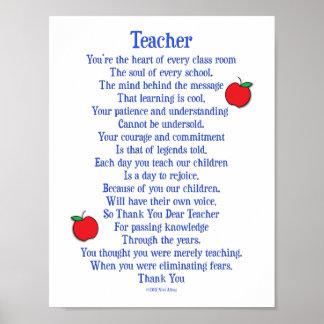 Poster Professeur