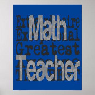 Poster Professeur de maths Extraordinaire