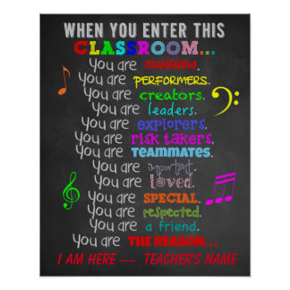 Poster Professeur de musique - quand vous écrivez des