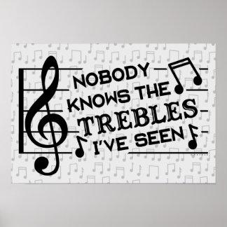 Poster Professeurs de musique triples du calembour | de