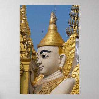 Poster Profil de statue de Bouddha