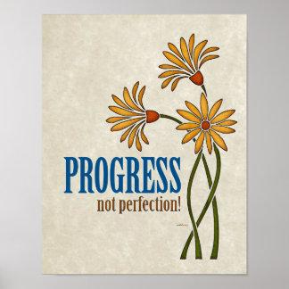 Poster Progrès, pas perfection ! (citation de