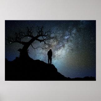 Poster Promenade de nuit dans les étoiles