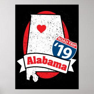 Poster Promenade en voiture '19 Alabama - affiche foncée