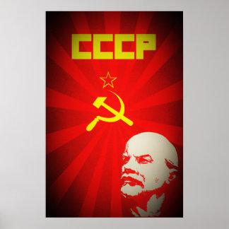 Poster propa rouge communiste de l'Union Soviétique