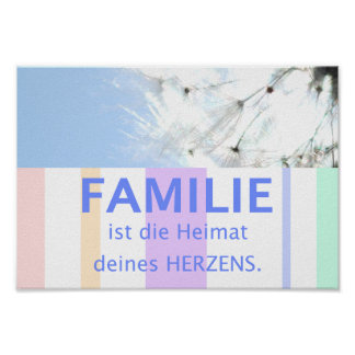 Poster Proverbe image maximes famille allemandes
