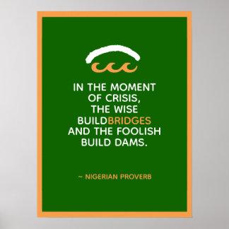 Poster Proverbe nigérien