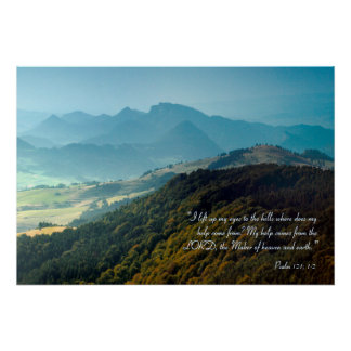 Poster Psaume inspiré 121 de |