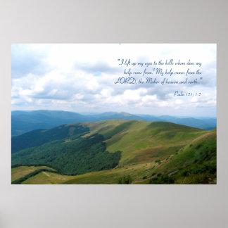 Poster Psaume inspiré 121 de | ; 1-2