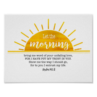 Poster Psaume jaune de Sun