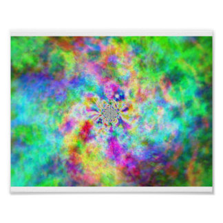 Poster Psychédélisme en couleurs