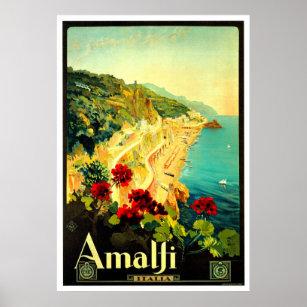 Poster Publicité d'Amalfi Italie Italie VintageTravel