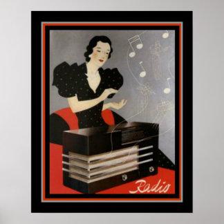 Poster Publicité par radio vintage 16 x copie 20