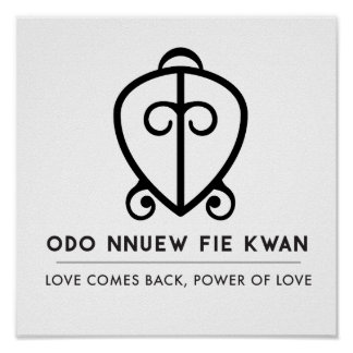 Poster Puissance d'Odo Nnyew Fie Kwan | de symbole