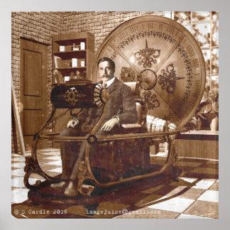 Poster Puits d'hectogramme se reposant dans la machine de