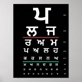 Poster Punjabi de diagramme d'oeil