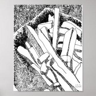 Poster purge de pommes frites