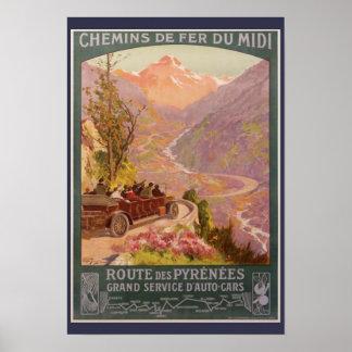 Poster Pyrénées pittoresques