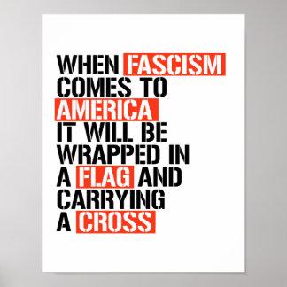 Poster Quand le fascisme vient en Amérique ce sera I