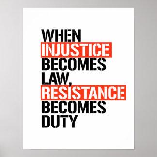 Poster Quand l'injustice devient la résistance de loi