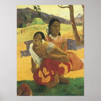 Poster Quand vous marierez-vous ? par Paul Gauguin, art