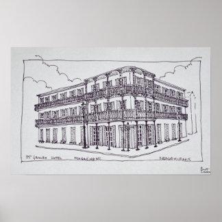 Poster Quartier français de l'hôtel | de St James, la