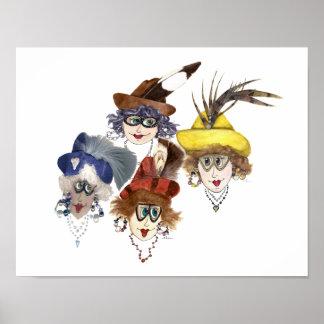 Poster Quatre femmes lunatiques