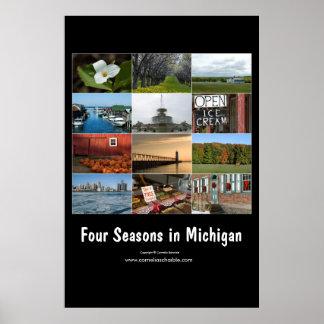 Poster quatre saisons en affiche du Michigan