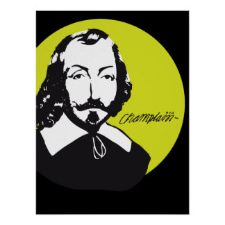 Poster Québec Samuel de Champlain 1608 Nouvelle-France