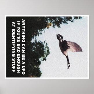 Poster Quelque chose peut être un UFO (petit)