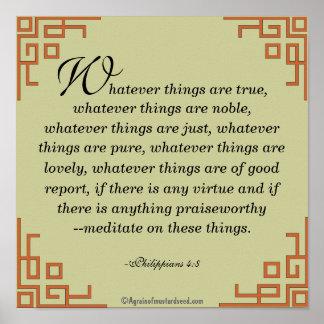 Poster Quelque choses soient vraies… Prière de citation