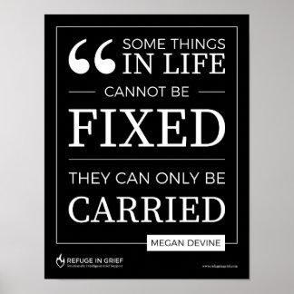 Poster Quelques choses ne peuvent pas être fixes - copie