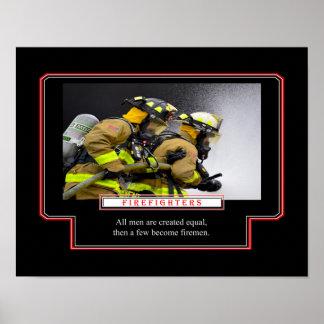 Poster Quelques uns deviennent des pompiers