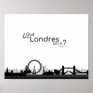 Poster Qu'est-ce qu'est Londres sans ?