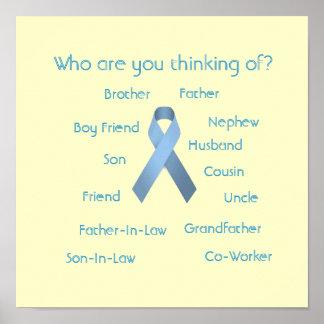 Poster Qui sont vous pensant au ruban bleu