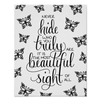 Poster Qui vous êtes beaux, affiche de papillons