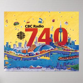 Poster Radio de CBC 740 - graphique 1980 de promo