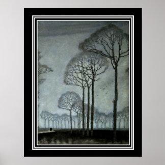 Poster Rangée des arbres avant janvier Mankes Ca