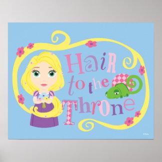 Poster Rapunzel - cheveux au trône