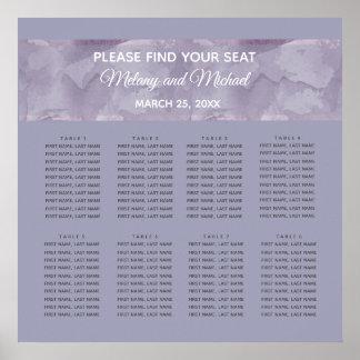 Poster Rayure moderne minimaliste d'aquarelle de lavande