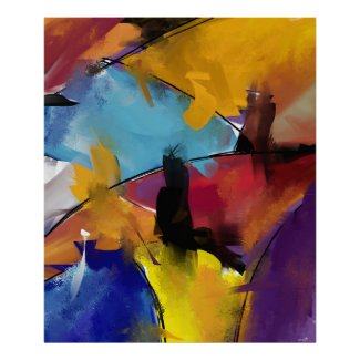 Poster rectangulaire vertical Abstract 1412