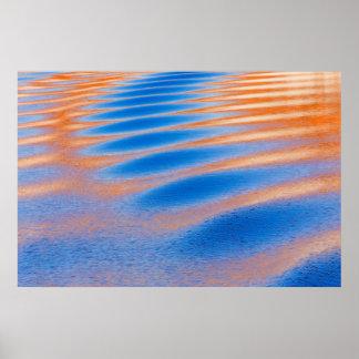 Poster Réflexion de falaise en canyon de gorge de Powell